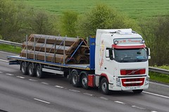 GL61 JXW (panmanstan) Tags: volvo fh wagon truck lorry commercial flatbed freight transport haulage vehicle m18 motorway langham yorkshire