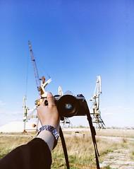 Don't Talk Just Shoot (awaylastdays) Tags: meizu meizumx4 mobile super me pentax pentaxmesuper camera industrial crane ua ukraine sky cherkasy cherkassy colors mobilephotography beaty