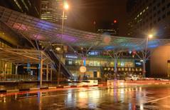 Suntec City Night (henriksundholm.com) Tags: night city urban street traffic road reflections wet rain raining rainfall puddles lighttrails sunteccity suntecmall mall pasarbella tott scanteak escalator lensflare hdr singapore southeast asia