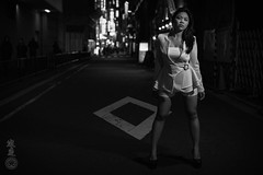 Nippon Noir (CanyoupicitsKento) Tags: kirei portrait rotolight winter street kawaii rotolightneo sony kentowatanabe noir tokyo asia girl beautiful yurakuchou sultry outside woman model night pretty asian sonya7s japan darkness