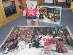 A Speshul Ockashun (pefkosmad) Tags: ablessingfromhiseminence painting art salvadorviniegraylasso falcon baroque spanish cardinal church catholic 1500pieces complete used secondhand jigsaw puzzle hobby leisure pastime tedricstudmuffin teddy bear ted cute stuffed softie soft toy animal plush fluffy