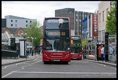 No.52 - Bull Street (zweiblumen) Tags: nationalexpresswestmidlands 52 bus doubledecker perrybeeches hassop road4800bx09 pdvbull streetbirminghamwest midlandsenglandukcanon eos 50dcanon ef 50mm f14 usm polariser zweiblumen