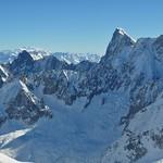 Les aiguilles de Chamonix, Aiguille du Midi, Chamonix-Mont Blanc, Haute-Savoie, Rhône-Alpes, France. thumbnail