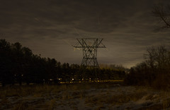 365-79 (• estatik •) Tags: 36579 365 79 march202017 32017 mon monday night long exposure dark power high tension lines tower newhope pa pennsylvania bucks county