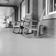 Chairs on the front porch of the Inn at the Presidio (morozgrafix) Tags: mamiya mamiyac330professional sanfrancisco california unitedstates parkpresidio us innatthepresidio chairs freestylearistaeduultra400 aristaeduultra400 aristaeduultra iso400 rodinal bw blackwhite blackandwhite film analog square mamiyac330 c330 filmdev:recipe=11339 adoxadonal film:brand=freestylearista film:name=freestylearistaeduultra400 film:iso=400 developer:brand=adox developer:name=adoxadonal