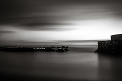 Return to the harbour (Mike Meal) Tags: nikond750 cornwall mono longexposure harbour portwrinkle whitsandbay nikon2470 blackandwhite moody 10stop nd110 leebigstopper leefilters feisol