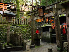 Faith and devotion (Marc Dugué) Tags: japan japon fushimi inari shinto cult path arch forest nature building faith ruin sanctuary sacred temple altar