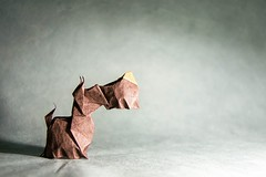 25 Pawsome Origami Dogs that You Mutt See (Origami.me) Tags: origami papercraft paper fold folding diy craft crafts dogs dog puppy