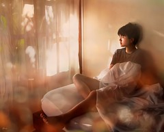 Sleepy Morning (❀Janey Song) Tags: morning sleepy girl people portrait bokeh omot
