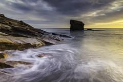 Charlie's Garden after sunrise (Alex365pix) Tags: seascapes sunrise seatonsluice waves le leefilters northeastcoast tyneside