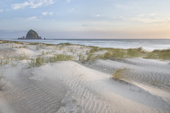 Soft Spring Sandy Glow at Cannon Beach (TeeJay_S) Tags: cannonbeach oregon oregoncoast orgeon visitoregon exploreoregon adventure amazing beautiful colorful discover explore exploring earth exposure getoutside justgoshoot longexposure landscape nature outdoors ocean outside outdoor pnw pacificnorthwest pacific pacificocean pnwexplored sunset