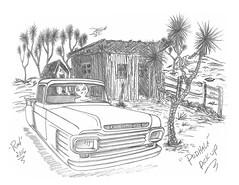 Podhale Pick Up (rod1691) Tags: bw scifi alien greys concept custom car retro space hotrod drawing pencil original story fnatasy funny automotive art illistration greyscale moonpies yuccavalley