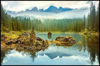 Carezza lake _ rev