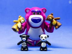 Bear Family (jezbags) Tags: lego legos toys toy bear bears teddy teddybear macro macrophotography macrodreams macrolego canon60d canon 60d 100mm closeup upclose blue pink