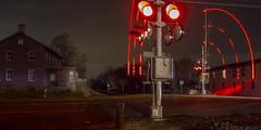 365-103 (• estatik •) Tags: 365103 365 103 april132017 41317 thurs thursday night long exposure three 3 bridges nj new jersey flemington higginsville rr railroad ave avenue crossing lights hunterdon county pano panorama