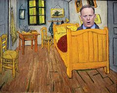 """Seany Needs His Big Boy Nap Now"": (enovember) Tags: sean spicer melissa mccarthy vangogh thebedroom painting vincent master parody snl saturdaynightlive nbc spicey"