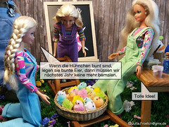 Easter 2017 (alegras dolls) Tags: osterhase ostern easterbunny easter barbie fashiondoll 16scale paintedeggs chicken küken diorama