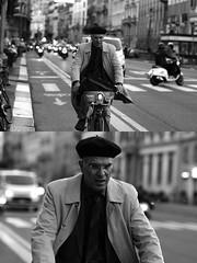 [La Mia Città][Pedala] con il BikeMi (Urca) Tags: milano italia 2017 bicicletta pedalare ciclista ritrattostradale portrait dittico bike bicycle biancoenero blackandwhite bn bw 993143 nikondigitale scéta bikemi bikesharing