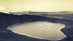 Krafla, Iceland (webeagle12) Tags: iceland nikon d7200 europe mountains landscape vegetation rocks nature mountain earth planet reykjahlíð north krafla volcanic lava fields volcano crater lake