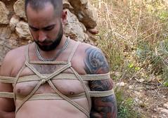 n-out 3 (shibarigarraf) Tags: shibari bondage kinbaku shibarigarraf male rope outdoor