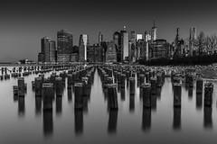 The Piles (PetterPhoto) Tags: newyork pettersandell manhattan manhattanskyline monochrome fineart night nikon blackandwhite noiretblanc