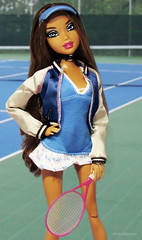 Lets Go Down To The Tennis Court (PancakeBoss) Tags: myscene doll barbie mattel sporty style addidas madison new york tennis