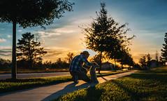 (Steven Sites) Tags: canon eos 5d mark iii sigma 50mm f14 man boy guy portrait puppy dog sunset summer spring sky plaid flannel