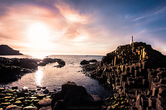 Giant's Causeway (Manadh) Tags: manadh pentax k3 sigma landscape giantscauseway sunset sea rock rockformation conceptual portrait darkart alone whitehair whitedress 1020mm