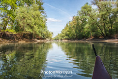 Tranquil Waters (Andy Brandl (PhotonMix)) Tags: landscape watersports cayaking water waves reflections trees germany shore