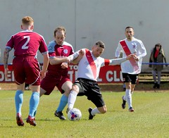 Phil Barclay in the thick of the early action (Stevie Doogan) Tags: clydebank cumbernauld utd mcbookiecom west scotland league superleague first division holm park saturday 15th april 2017 bankies scottish juniors