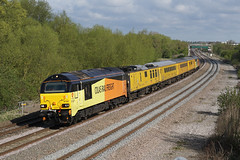 67027 13-04-17 (IanL2) Tags: colasrailfreight colas class67 67027 mml networkrail testtrain northamptonshire railways trains