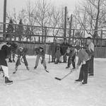 Neighbourhood hockey game in Edmonton thumbnail