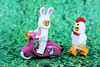 Easter Joyride! (Lesgo LEGO Foto!) Tags: lego minifig minifigs minifigure minifigures collectible collectable legophotography omg toy toys legography fun love cute coolminifig collectibleminifigures collectableminifigure easter easterbunny bunny hen chicken chick easterhen chickensuitguy suit guy scooter scoot rabbit