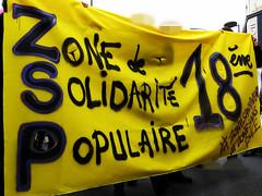 zone de solidarité populaire 18è (Doubichlou14) Tags: zone de solidarite populaire sans papier police paris 18 manifestation contre le fn front national antifasciste anticapitaliste france 16 04 2017 parisienne demo demonstration protest