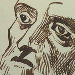 DELACROIX Eugène - Têtes, Etudes d'après la Gravure de L'Autoportrait du Titien (drawing, dessin, disegno-Louvre RF10612) - Detail 31 thumbnail