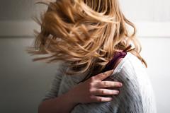 Day 48, Year 10. (evilibby) Tags: 365 36510 365days 365days10 libby hairtoss hairflip messyhair blonde
