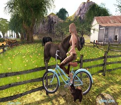 Le Paradis ❤ (Sydney Levee) Tags: music sim land landscaping maitreya lelutka hair body mesh exxess yeliz vista animations mocap poses photos pictures sky tatoos nature ciel paysage photograph fantasy virtual secondlife sl ever iza glamaffair color life woman girl clothes fashion horses chaval chien dog pets pet cycle vélo ferme coubtry picture kiss bisous kissies paysages campagne arbres trees grass herbes flowers