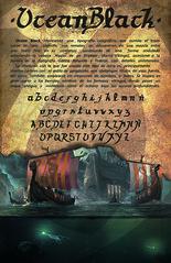 Tipografía OCEAN BLACK (macross design) Tags: macrossdesign viking tipography ocean black nordic gothic fraktur rotunda drakkar hippoi photoshop illustrator collage caligraphy design