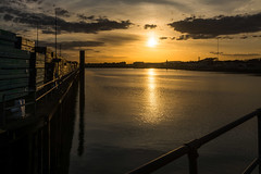 Evening calm (tom ballard2009) Tags: shoreham sussex harbour sunset river adur clouds seascape sun sky ripples