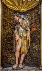 DSC6753 Alonso de Berruguete - San Roque, Iglesia del Monasterio de Santa María la Real de Nieva, (Segovia) (Ramón Muñoz - ARTE) Tags: monasterio de santa maría la real nieva alonso berruguete escultura escultor san roque