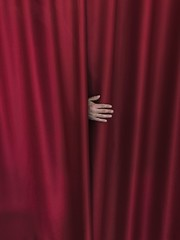 Red Curtain (marcus.greco) Tags: red curtain hand conceptual surreal portrait color