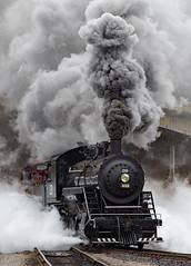 The Rolling Vesuvius (jterry618) Tags: duluth minnesota unitedstates steamlocomotive steamtrain railroad lakesuperiorrailroadmuseum duluthnortheastern28 steam engine smoke