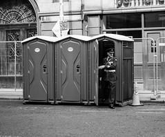 The Need (Jethro_aqualung) Tags: policeman bathroom need monochrome bw bn nikon d3100