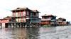 Floating villages on Lake Inle - Myanmar (Laszlo Bolgar) Tags: inlelake myanmar nyaungshwe taunggyi floatingvillages intha mmr