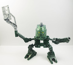 Green Guy: Fashion Superstar (novuscarpus) Tags: sb custom cast lego mask resin toy