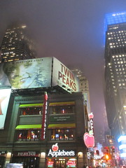 Twin Peaks Billboard Times Square 2017 Foggy Night NYC 4852 (Brechtbug) Tags: twin peaks the return billboard poster ad laura palmer sheryl lee fbi agent dale cooper kyle maclachlan mystery 90s show showtime type mysterious bird birds owl owls may 05212017 9pm 2017 nyc broadway 50th st near times square midtown manhattan street new york city streets 04272017 hazy fog foggy night nite