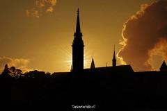 Silhouettes : Matthias Church, Budapest, Hungary (Tankartartid) Tags: europe sky matthiaschurch silhouettes sunset hungary budapest instagram