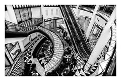 stairs (K.H.Reichert) Tags: stairs departmentstore206 architectur architektur staircase germany architecture blackwhite quartier206 schwarzweiss friedrichstrase treppe berlin deutschland de