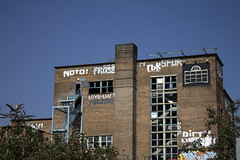 Sheffield (gina.nicole.tesloff) Tags: sheffield urban city spring graffiti contrast blue white england texture travel trees uk outdoors ominous outside old industrial broken derelict building abandoned decay pattern perspective artistic sun detail depth dark design light landscape canon colour colourful color view bright north
