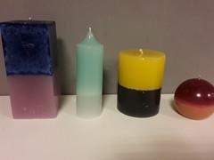 Kaarsen. Diverse soorten en kleuren.